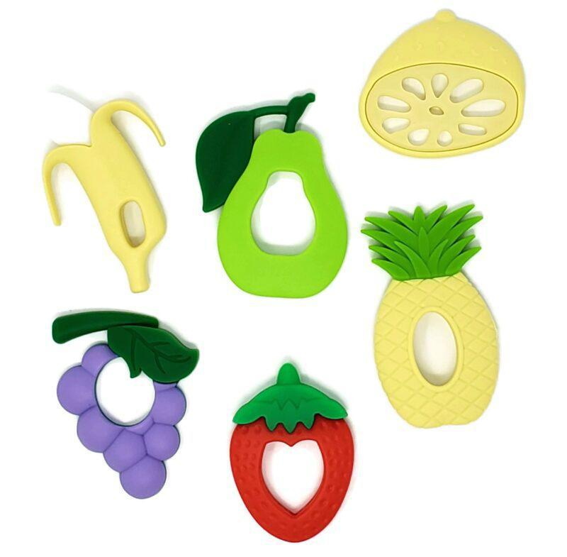 The Chew Box Fruit Edition Silicone Baby Teethers set of 6 - Luna Baby Modern Store
