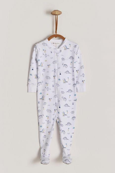 Babycottons Dino's Art Snug fit Footie