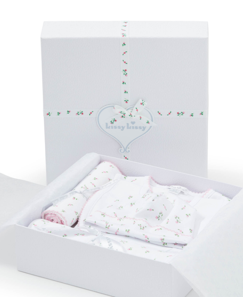 kissy kissy 5PC Gift Set With Gift Box Garden Print