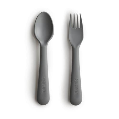 Mushie Fork and Spoon Set - Luna Baby Modern Store