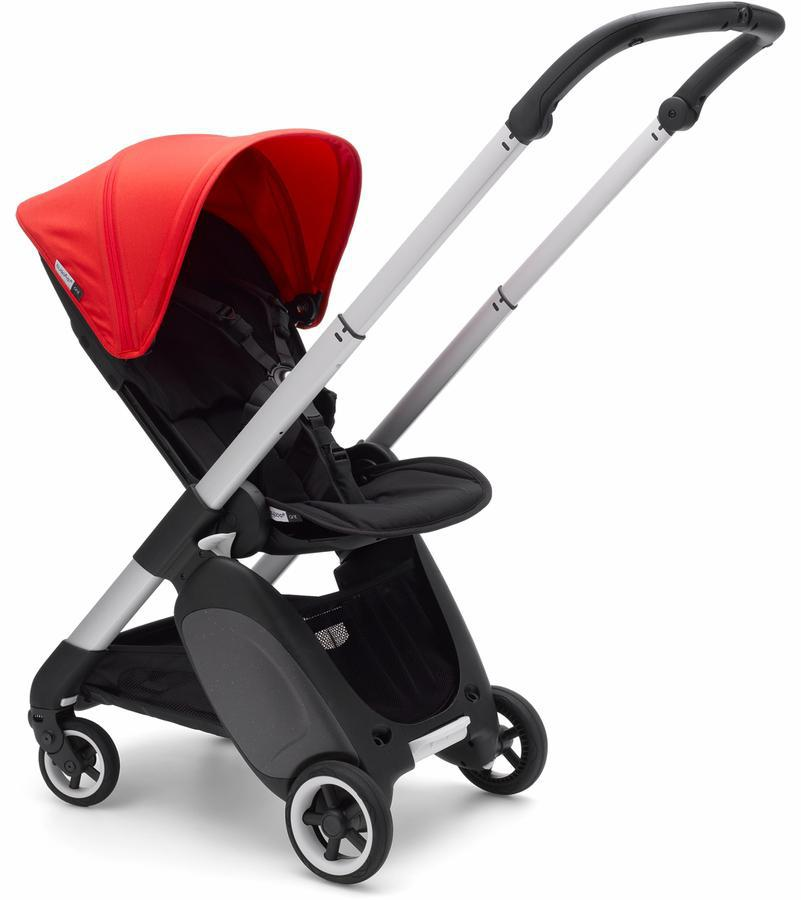 Bugaboo Ant Complete Stroller Aluminum/ Black / Neon Red - Luna Baby Modern Store