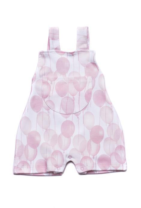 Patucos Baby Rompers Ballons Pink Pima Cotton - Luna Baby Modern Store