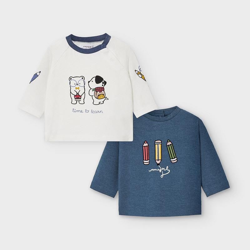 Mayoral Long Sleeved T-Shirts Set Boy - Luna Baby Modern Store