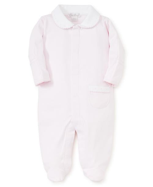 Kissy Kissy New Beginnings Footie W/Collar Pink