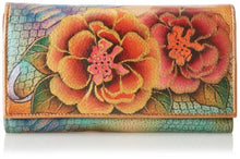 Anuschka Hand Painted Genuine Leather Checkbook Wallet