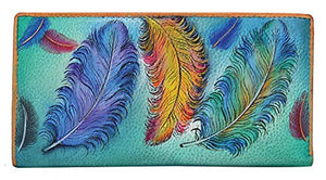 Anuschka Hand Painted Genuine Leather Clutch Wallet