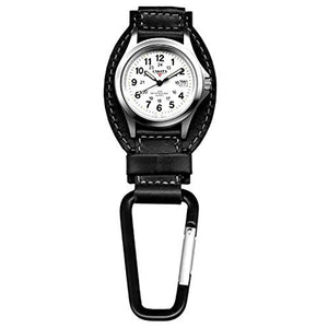 Dakota Black Leather Field Clip Watch