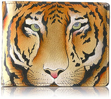 Anuschka Handpainted Leather Rfid Blocking Two Fold Men's Wallet