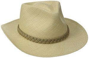 Scala Men's Panama Outback Hat, Natural, Medium