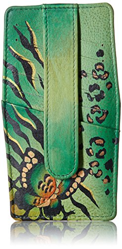 Anuschka Handpainted Leather 1729 Credit Card Holder