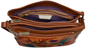 Anuschka Multi Compartment Saddle Bag