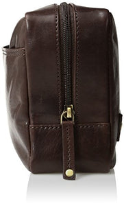 Dopp Men's Carson Compact Carry-On Kit-Leather, Expresso