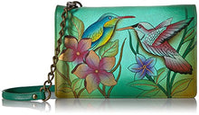 Anuschka Hand Painted Leather Two Fold Wallet On String Wallet