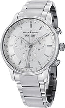 Alexander Statesman Chieftain Men's Multi-function Chronograph Silver Dial Stainless Steel Swiss Made Watch A101B-01