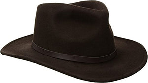 Scala Classico Men's Crushable Felt Outback, Chocolate, XX-Large