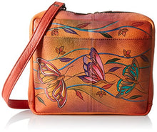Anuschka Handpainted Leather Crossbody Travel Organzer