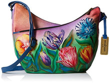 Anuschka Hand Painted Genuine Leather U-Top Convertible Hobo