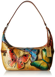 Anuschka Hand Painted East West Medium Hobo