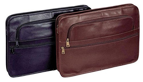 Leather Underarm Portfolio Color: Black, Material: Top Grain