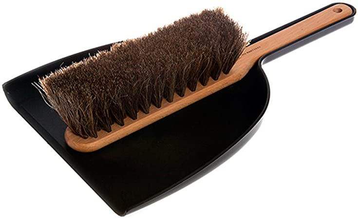 Iris Hantverk Dustpan & Brush Set, Handmade, Black