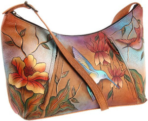 Anuschka Medium Zippered Hobo Shoulder Handbag