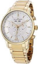 Alexander Statesman Chieftain Men's Multi-function Chronograph Silver Dial Yellow Gold Plated Swiss Made Watch A101B-03