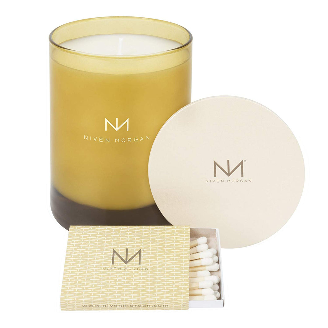 Niven Morgan Green Tea & Peony Fragrant Candle