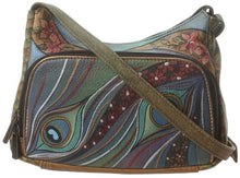 Anuschka Hand Painted Compact Crossbody Travel Organizer