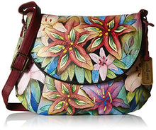 Anuschka Hand-painted Leather Flap Over Convertible Handbag
