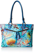 Anuschka Handpainted Leather Large Shopper with Front Pockets