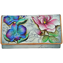 Anuschka Hand Painted Genuine Leather Accordion Flap Wallet