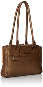 Anuschka Triple Compartment Medium Top Handle Bag