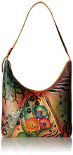 Anuschka Anna by Handpainted Leather U-Top Tote, Animal Flower