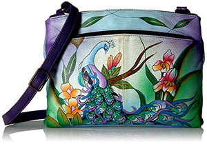 Anuschka Handpainted Crossbody Organizer Bag