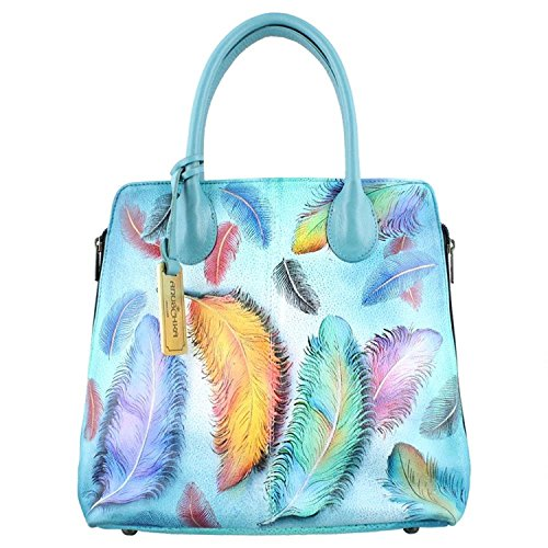 Anuschka Genuine Leather Medium Zipped Hobo Hand Painted Handbag