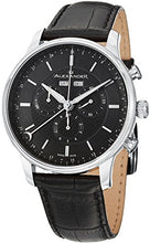 Alexander Statesman Chieftain Men's Multi-function Chronograph Black Dial Black Leather Strap Swiss Made Watch A101-02