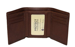 Osgoode Marley Cashmere RFID Blocking Mens Tri-Fold Leather Wallet (One Size, Espresso)