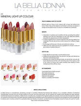 La Bella Donna Mineral Light Up Lip Colour | All Natural Pure Mineral Lipstick | Long-Lasting Color | Hydrating Formula | Hypoallergenic and Cruelty Free - Nude