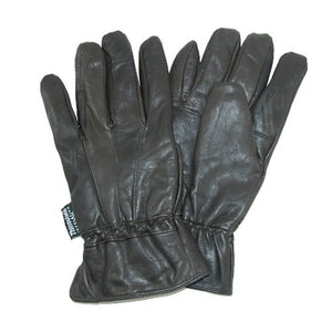 Dorfman Pacific Mens Leather Thinsulate Lined Water Repellent Winter Gloves Brown Large / X-Large
