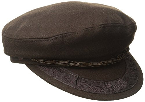 Aegean Unisex Wool Greek Fisherman's Cap, Brown, 6 7/8