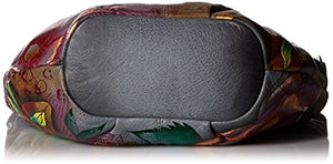 Anuschka Genuine Leather Medium Bucket Hobo Hand Painted