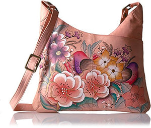 Anuschka Hand Painted Leather Multicompartment Tote,