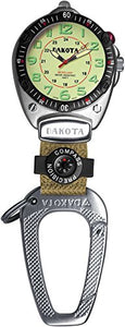 Dakota Easy-To-Read Flashlight Clip Watch - Tan Fob