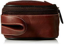 Dopp Men's Country Saddle Leather Top Zip Travel Kit, Brown