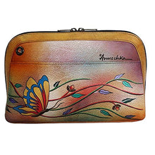 Anuschka Genuine Leather Hand Painted Small Multi Compartment All-Round Zip