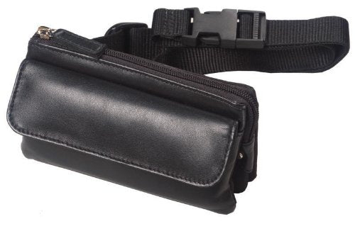 Leather Mini-Fanny Pack Color: White