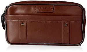 Dopp Men's Veneto Soft Sided Multi Zip Travel Kit Leather