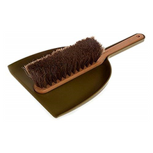 Iris Hantverk Handheld Dustpan & Brush Set with Horsehair in Green