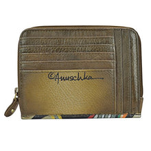 Anuschka Zip Around Credit Card Case Genuine Leather