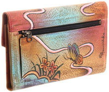 Anuschka Women's Handpainted Leather Check Book Wallet Checkbook Cover